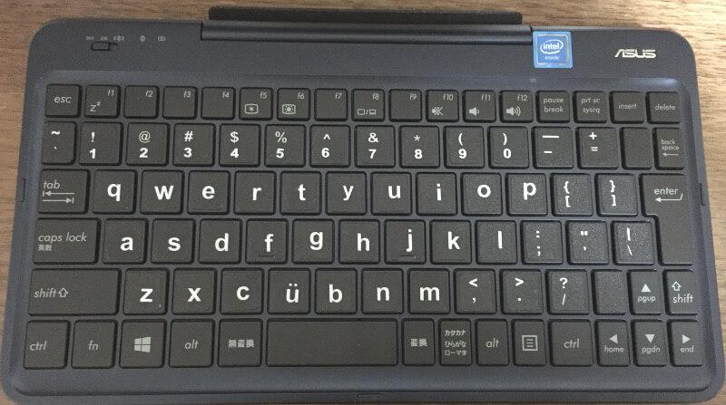 キーボード付きタブレットPC(ASUS TransBook t90chi)のキーボード