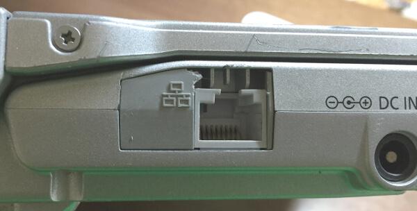 レッツノートS9のジャンクでモデム接続のフタをする部品も破損