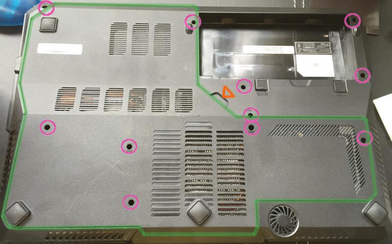 Galleria QF560の底面図