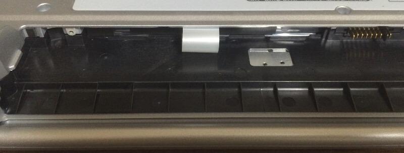レッツノートLX3でHDD交換(SSD換装)、HDDを取り出す
