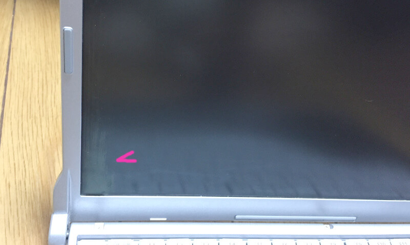 レッツノートCF-S10でモニターの液晶が破損してる