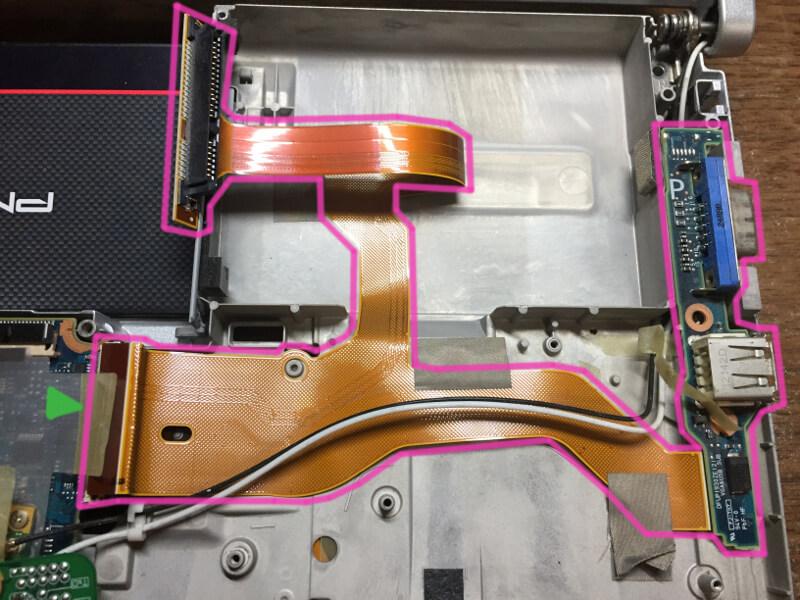 レッツノートCF-S10で通電しなくなった原因のHDDケーブルを交換