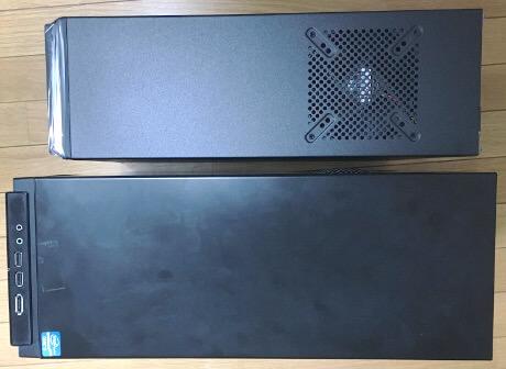 Elite361と前のPCケース比較(上から)