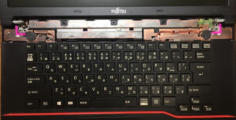 Fujitsu LIFEBOOK「A574/H」のモニターを本体に固定