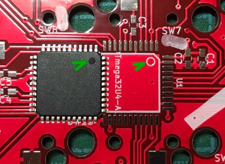 自作キーボードminiaxeでPCBにMPUをはんだ付けする
