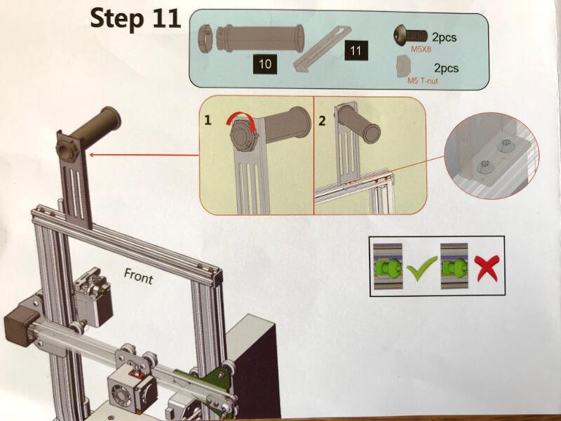 Ender-3xにフィラメントを乗せる台を付ける