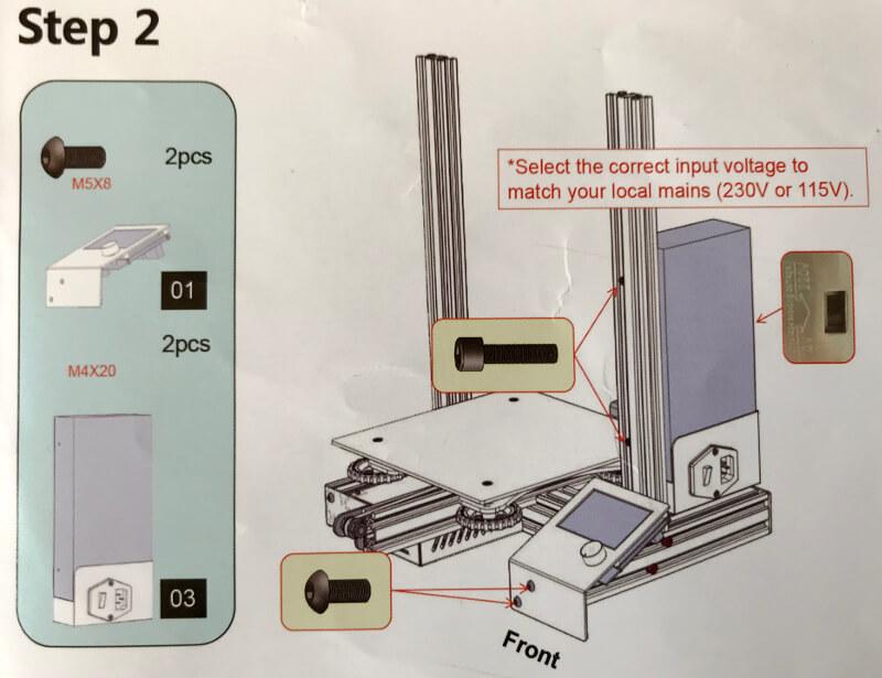 Ender-3xに電源と操作パネルをつける