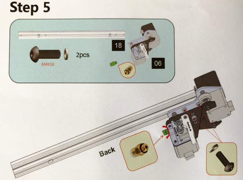 Ender-3xでX軸を移動させる棒を付ける