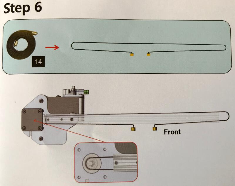Ender-3xでX軸にゴムベルトを通す