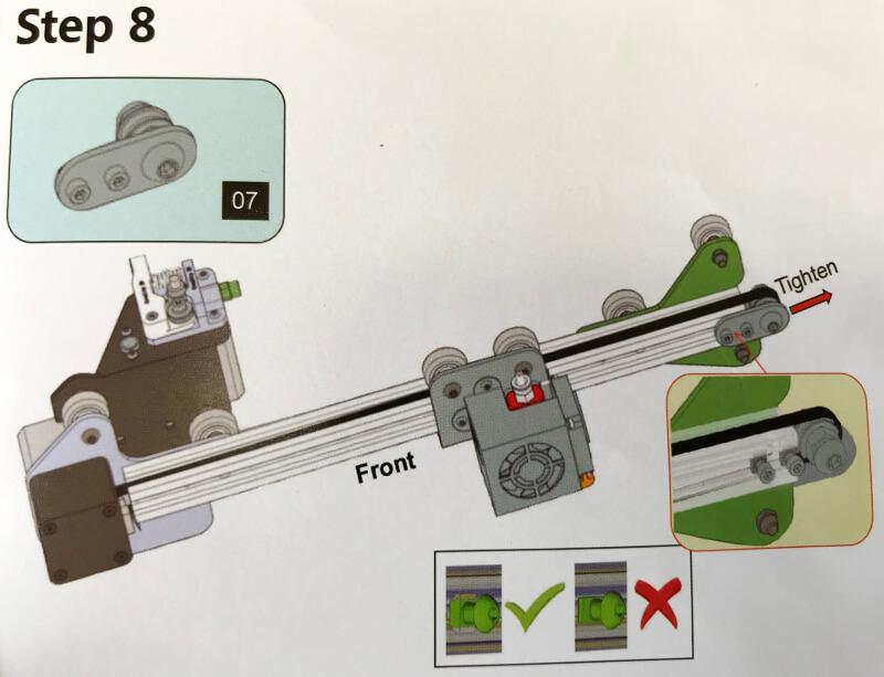 X軸のゴム調整パーツを付ける