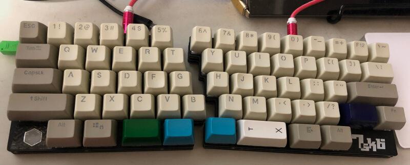自作キーボード7sKB(MX版)完成