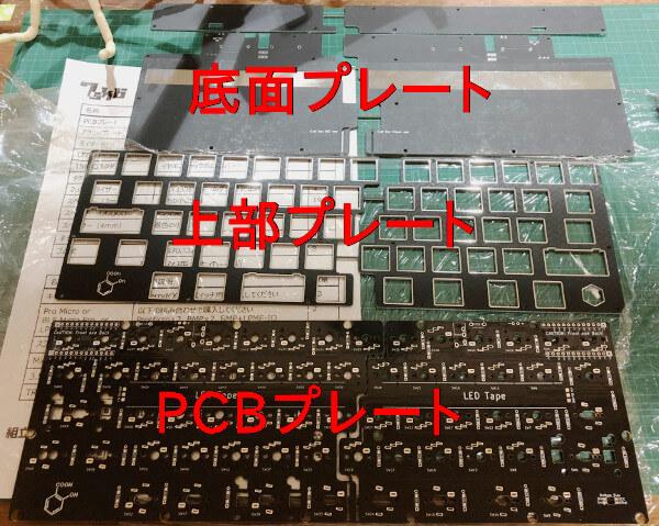 自作キーボード7sKB(MX版)のプレート