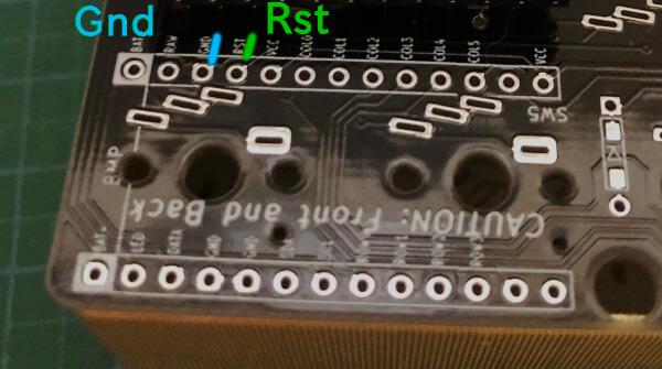 自作キーボード7sKB(MX版)のファームウェア書き込みでリセットボタンの代用