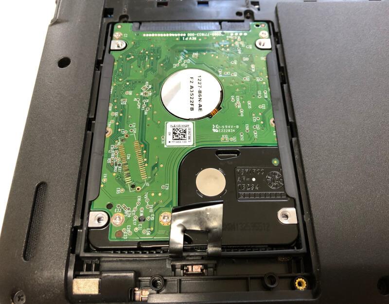 lenovoのノートパソコンThinkPadのEdge E460にHDDを入れたところ