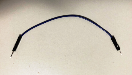 両端にピンのついたジャンパー線(オス-オス)